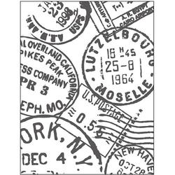 Embossingfolder Poststempel