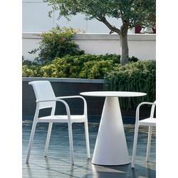 Tisch Ikon Pedrali weiß, Designer Pio, Tito Toso, 73 cm