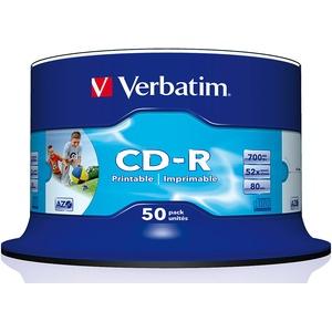 CD-R 700MB Super AZO WIDE-Printable, 50er Spindel