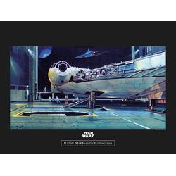 Komar Poster Star Wars Classic RMQ Falcon Hangar, Star Wars 40 cm x 30 cm