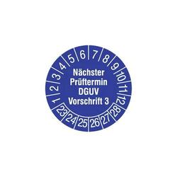 HT Instruments 2002260 Prüfplaketten 15mm Sicherheitsprüfplaketten Sicherheitsprüfplaketten 15mm