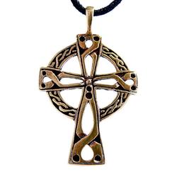 Kiss of Leather Kettenanhänger Keltenkreuz Radkreuz Kelten keltisch Kreuz Bronze Anhänger