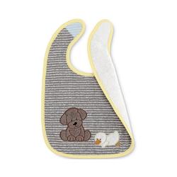 Sterntaler® Lätzchen Plastik-Klettlätzchen Stanley, ecru grau