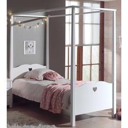 Kinderbett mit Himmel Weiß