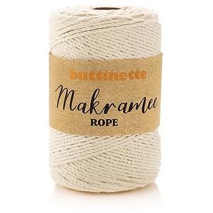 """buttinette Makramee-Garn """"Rope"""", natur, 3-fach verzwirnt, Stärke: 3 mm, Länge: 150 m"""
