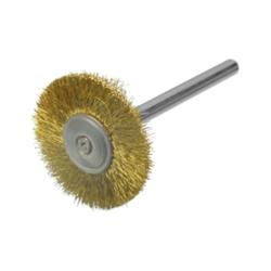 Rundbürste / Miniaturbürste Messing 0,10 Ø16x3 VPE: 12