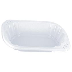 Imbissschalen oval 300 ml, 17,2 x 9,8 x 3,9cm weiß, PP, mit Anfasser, 250 Stk.