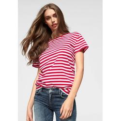 AJC T-Shirt im lässigen Streifen-Design rot 40/42 (M)