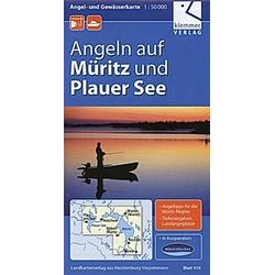 Angel- und Gewässerkarte Müritz und Plauer See 1:50.000 - Buch