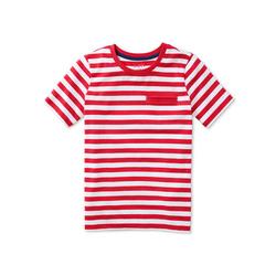 Streifen-T-Shirt mit eingelassener Brusttasche