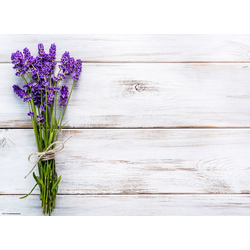 Platzset, Tischset I Platzset - Blumen - Lavendel auf Holz - 12 Stück aus hochwertigem Papier in Aufbewahrungsmappe, perfekt für Frühlingsdekoration, Tischsetmacher, (12-St)
