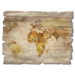 Holzbild »Weltkarte«, Bilder, 90936804-0 braun 40x30 cm braun