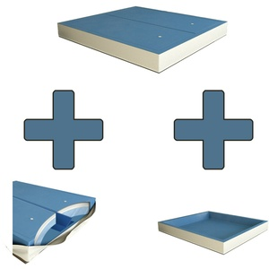 Softside DUAL Wasserbett Matratze Wasserkern SET 2 Stk inkl. Trennwand+Outliner