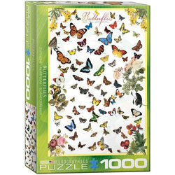 empireposter Puzzle Die Welt der Schmetterlinge - 1000 Teile Puzzle im Format 68x48 cm, Puzzleteile