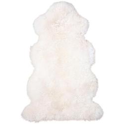 Fellteppich Lammfell 156 weiß, Heitmann Felle, fellförmig, Höhe 70 mm, echtes Austral. Lammfell, Wohnzimmer