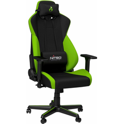 NITRO CONCEPTS Gaming-Stuhl S300 Gaming Chair, Bürostuhlzertifizierung DIN EN 1335 grün