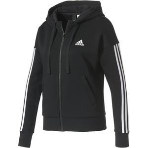 adidas Damen Essentials 3-Stripes Full Zip Hoodied Jacke, Schwarz (Black/White), 2XS