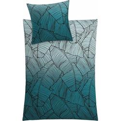Bettwäsche Vero, Kleine Wolke, mit Palmenblattmuster grün 1 St. x 135 cm x 200 cm