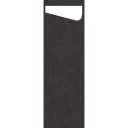 DUNI Sacchetto Serviettentaschen Airlaid SLIM, Praktische Bestecktasche, 1 Karton = 4 x 60 Stück = 240 Stück, schwarz