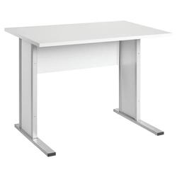 Schreibtisch »Smileline V« 90 cm grau, Möbelpartner, 90x75x65 cm