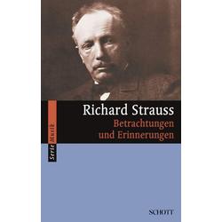 Richard Strauss als Buch von Richard Strauss