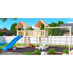 AKUBI Spielturm Ritterburg Lotti, BxTxH: 604x264x291 cm braun Kinder Outdoor-Spielzeug