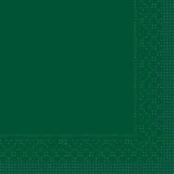 Mank Tissue Basics Servietten, 33 x 33  cm, 1/4 Falz, 3-lagig, 1 Karton = 6 x 100 Stück = 600 Servietten, grün