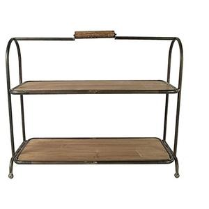 Unbekannt Etagere Tischregal Metall Holz im Vintage Stil
