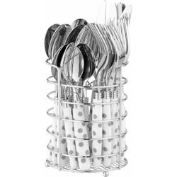 Esmeyer Besteck-Set Liana, 24 Teile Besteck, mit Besteckkorb weiß