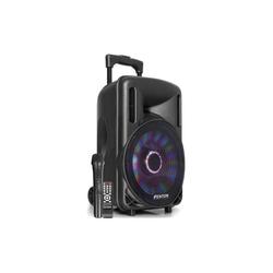 "Fenton FT10LED Aktiv-Lautsprecher 10"" 450W BT/USB/SD/AUX LED Akku Trolley Stand-Lautsprecher 28 cm x 44.5 cm x 24.5 cm"