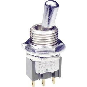 NKK Switches M2012LL4G01 Kippschalter 28V DC/AC 0.1A 1 x Ein/Ein rastend 1St.