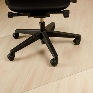 Relaxdays Bodenschutzmatte Bürostuhl, 120x120 cm, PVC Bodenunterlage Laminat, Parkett, Teppich, rutschfest, transparent
