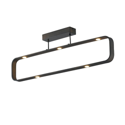 Lutec Deckenleuchte LED Moka Schwarz