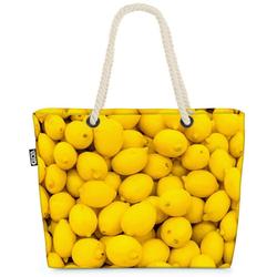 VOID Strandtasche (1-tlg), Zitronen Lemons Beach Bag Küche Gelb Zitrone Südfrüchte Saft Limo Limonade Obst