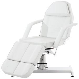 CLP Massageliege Split hydraulische Kosmetikliege V2, stufenlos verstellbare weiß