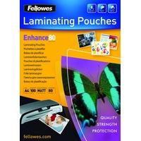 Fellowes Laminierfolien Enhance 80 mic A4 matt 100 Stück
