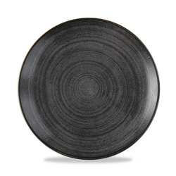 12 x Teller rund 21,7cm STONECAST RAW Black