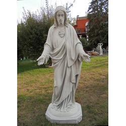 BAD-10337 Lebensgrosse Jesus Figur Heiligenfigur Jesusfigur des heiligen Christus 155cm 200kg (Farbe: weiss)