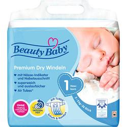 Beauty Baby Windeln Premium Dry Größe Gr.1 (2-5 kg) für Babys