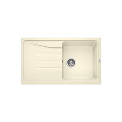 Blanco Sona 5 S Silgranit Puradur Ii Jasmin Single Bowl Reversible Composite Cream Kitchen Sink