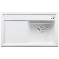 Blanco Zenar 45 S rechts weiß + Excenterbetätigung + InFino + Holzschneidbrett
