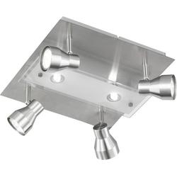WOFI Rox 9020.06.64.6100 Deckenstrahler Halogen GU10, G9 18W Nickel (matt)