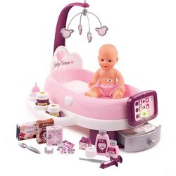 Smoby Puppen Pflegecenter Baby Nurse elektronische Puppenpflege-Station rosa Kinder Ab 3-5 Jahren Altersempfehlung Puppenmöbel