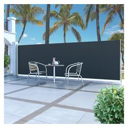 vidaXL Sonnenschirm vidaXL Ausziehbare Seitenmarkise 160 x 500 cm Schwarz