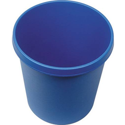Helit the german H6105834 Papierkorb 18l (Ø x H) 315mm x 335mm Polypropylen Blau