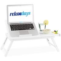 Relaxdays Laptoptisch weiß