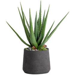 Kunstpflanze Aloe, Blütenwerk, Höhe 42 cm