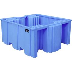 PE-Auffangwanne Typ WP 1/11 PE-Auffangwanne für 1000-l-IBC 1590x1455x715 mm. Auffangvolumen 1125 Lit