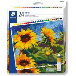 Acrylfarbkasten Tuben karat 24 Farben a 12ml