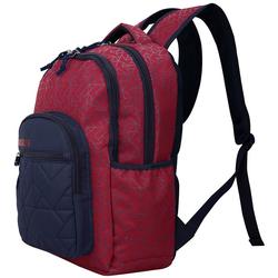BESTLIFE Rucksack JUST rot/blau mit Laptopfach bis 15,6 Zoll